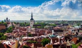Ciudad vieja en Tallinn, Estonia Fotos de archivo libres de regalías