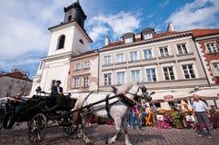Ciudad vieja en Varsovia Fotografía de archivo libre de regalías