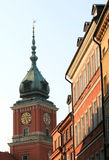 Ciudad vieja en Varsovia Fotos de archivo libres de regalías