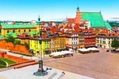 Ciudad vieja en Varsovia, Polonia Imagen de archivo libre de regalías