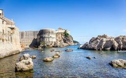 Ciudad vieja escénica, Croacia de Dubrovnik imágenes de archivo libres de regalías