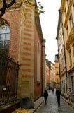 Ciudad vieja Estocolmo en otoño Fotos de archivo libres de regalías