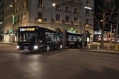 Ciudad vieja Ginebra por noche Imagen de archivo