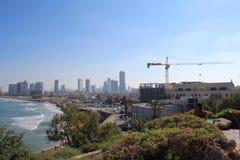 Ciudad vieja hermosa, opinión del mar en Jaffa, Tel Aviv, Israel fotos de archivo