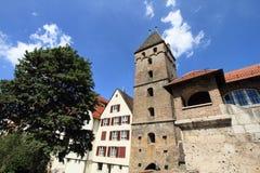 Ciudad vieja histórica en Ulm Foto de archivo libre de regalías