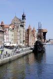 Ciudad vieja histórica de Gdansk en Polonia Fotos de archivo libres de regalías