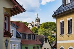 Ciudad vieja Königstein im Taunus, Hesse, Alemania fotos de archivo libres de regalías