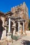 Ciudad vieja Kaleici en Antalya Turquía Foto de archivo libre de regalías