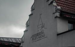 Ciudad vieja Kaunas de las sodas de Pilies imagen de archivo