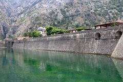 Ciudad vieja Kotor Montenegro de la fortaleza fotografía de archivo libre de regalías