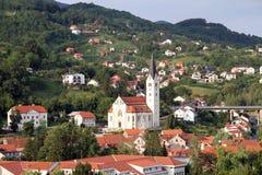 Ciudad vieja Krapina Imagen de archivo libre de regalías
