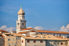 Ciudad vieja Krk, mediterráneo, Croacia, Europa Fotografía de archivo