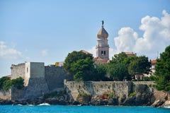 Ciudad vieja Krk, mediterráneo, Croacia, Europa Fotos de archivo