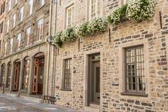 Ciudad vieja la ciudad de Quebec Foto de archivo libre de regalías
