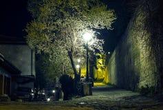 Ciudad vieja, luces poste Imagenes de archivo