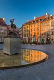 Ciudad vieja Market Place de Varsovia Imagen de archivo