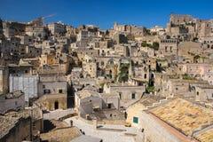 Ciudad vieja Matera Basilicata Apulia o Puglia Italia foto de archivo libre de regalías