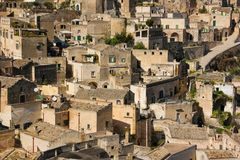 Ciudad vieja Matera Basilicata Apulia o Puglia Italia imagen de archivo libre de regalías