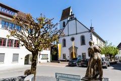 Ciudad vieja Mellingen en Suiza foto de archivo libre de regalías