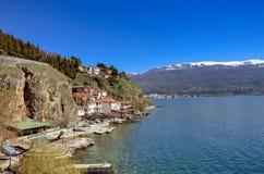 """Ciudad vieja Ohrid del †del lago Ohrid, Macedonia """" Imagen de archivo"""