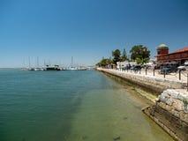 Ciudad vieja Olhao, Portugal de la costa Foto de archivo
