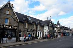 Ciudad vieja, Pitlochry, Escocia Imágenes de archivo libres de regalías