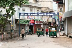 Ciudad vieja, político del Ni de Ratan, Ahmadabad - la India foto de archivo libre de regalías