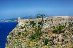 Ciudad vieja Rethimno, Creta Grecia Foto de archivo libre de regalías