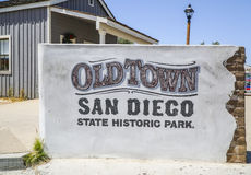 Ciudad vieja San Diego Historic State Park - SAN DIEGO - CALIFORNIA - 21 de abril de 2017 Imágenes de archivo libres de regalías