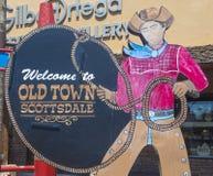 Ciudad vieja Scottsdale Fotos de archivo libres de regalías