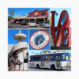 Ciudad vieja Scottsdale, Arizona Foto de archivo