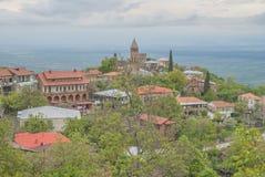 Ciudad vieja, Sighnaghi, Georgia Foto de archivo libre de regalías