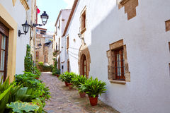 Ciudad vieja Vila Vella de Tossa de Mar en Costa Brava Fotos de archivo libres de regalías