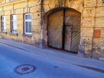 Ciudad vieja, Vilna, la república de los upis del ¾ de UÅ Foto de archivo libre de regalías