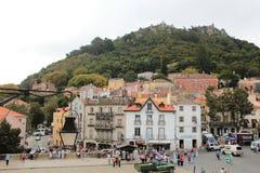 Ciudad vieja y edificio municipal de Sintra, Portugal, Europa Fotos de archivo