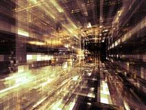 Ciudad virtual ilustración del vector