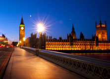 Ciudad Westminster Ben Urban Scene Concept grande de Londres Foto de archivo