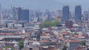 Ciudad y centro de negocios de Sarajevo almacen de metraje de vídeo