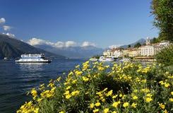 Ciudad y el lago famoso Como, sept. de Bellagio 2015 Fotografía de archivo libre de regalías