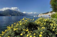 Ciudad y el lago famoso Como, sept. de Bellagio 2015 Fotografía de archivo