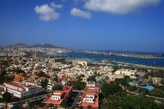 Ciudad y puerto como de palmas de gran Canaria imagen de archivo