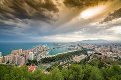 Ciudad y puerto de Málaga, Imágenes de archivo libres de regalías