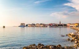 Ciudad y puerto de Porec en el mar adriático en Croacia Imagen de archivo
