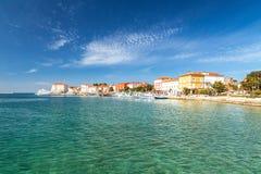 Ciudad y puerto de Porec en el mar adriático en Croacia Imágenes de archivo libres de regalías