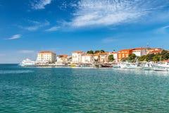 Ciudad y puerto de Porec en el mar adriático en Croacia Foto de archivo