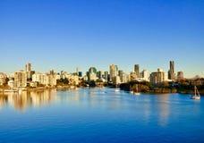 Ciudad y río hermosos de Brisbane Fotografía de archivo libre de regalías