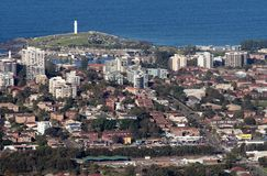 Ciudad y suburbios de Wollongong Fotografía de archivo libre de regalías