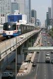Ciudad y transporte de Bangkok Fotografía de archivo