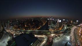 Ciudad Yoido de Seul almacen de metraje de vídeo