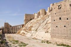 Ciudadela de Aleppo, Siria imágenes de archivo libres de regalías